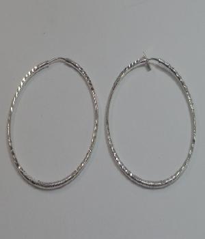 283afb4597f7 Arracada en forma ciruclar de plata 925