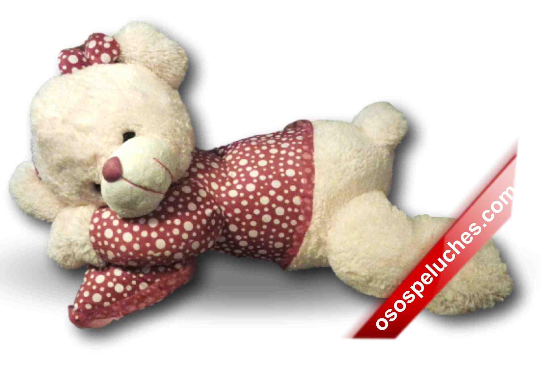 Imagen de Dormilona de peluche 1m sentada roja con punt