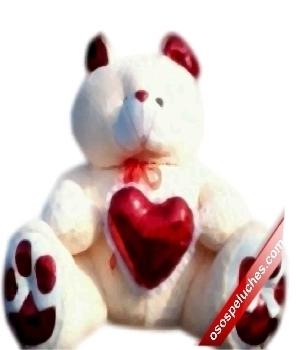 Imagen de Oso de peluche gigante con corazon mega jumbo