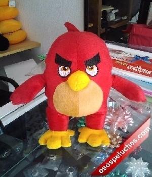 Imagen de Angry bird de peluche color rojo