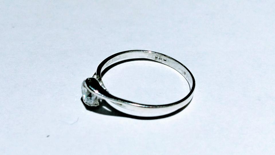 Imagen de Anillo solitario con circonia de plata 925 numero 1