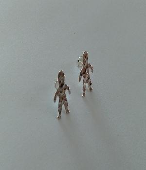 Imagen de Broqueles nintildeos martillados 15 cms