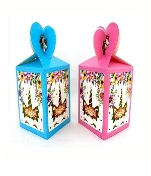 Imagen de Cajitas de regalo carton unicornio chicas