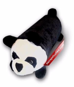 Imagen de Cojín Panda de peluche cilindrico