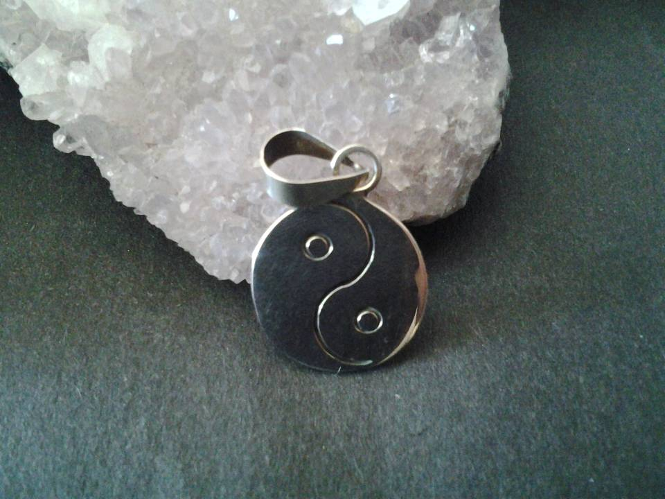 Imagen de Dije de plata 925 ying yang numero 0