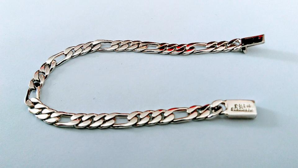 Imagen de Esclava de plata gruesa caballero 20 cms numero 1