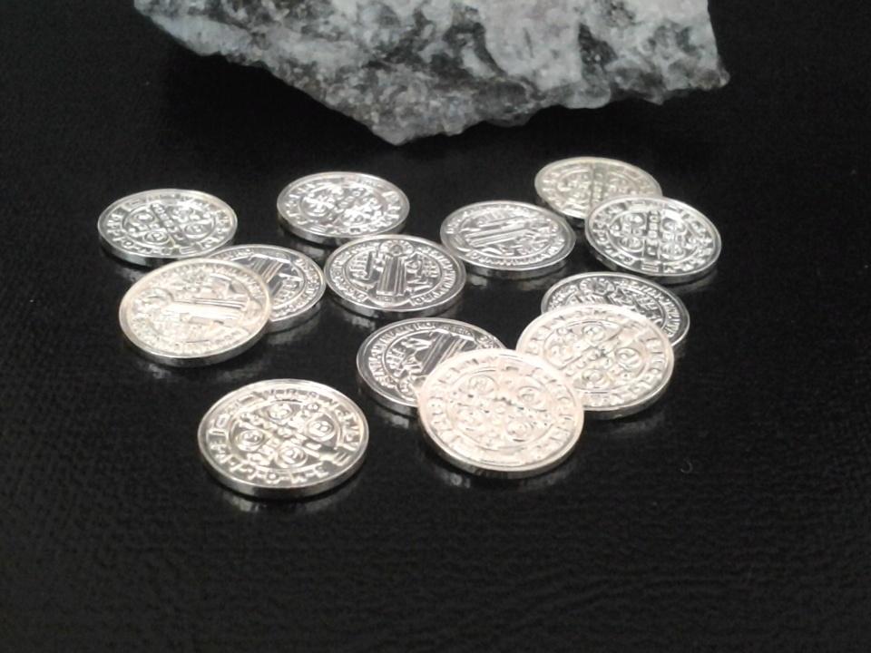 Imagen de Juego de Arras de matrimonio de 1,1cm cada moneda numero 0