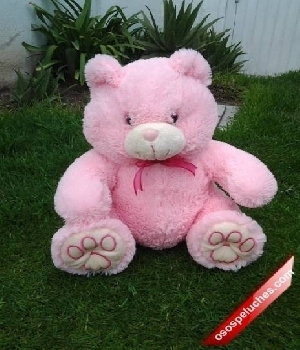 Imagen de Oso de peluche abrazos rosa 45X30cms
