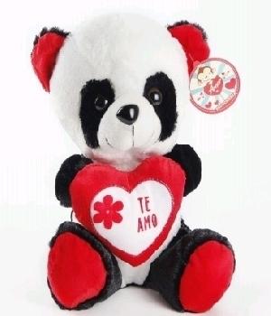 Imagen de Panda de peluche corazón 35 cms