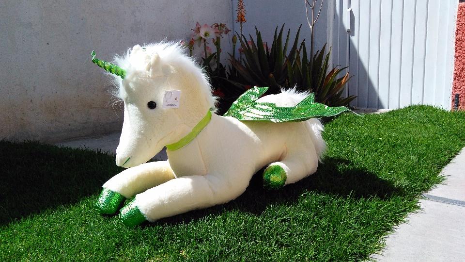 Imagen de Unicornio de peluche grande 85 cms verde numero 1