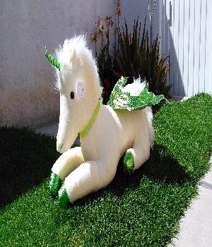 Imagen de Unicornio de peluche grande 85 cms verde