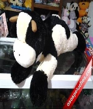 Imagen de Vaca de peluche grande 80 cms