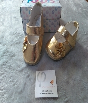 Imagen de Zapatos para bebe color dorados mod570